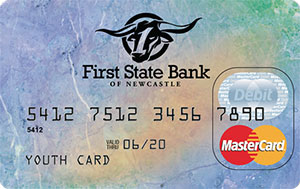 Official First State Bank of Newcastle Debit Card