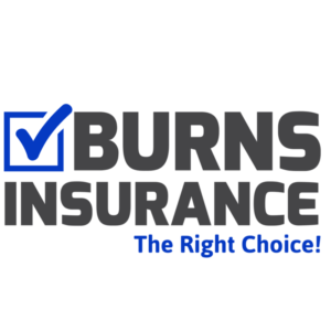 Box with checkmark inserted and the Verbiage Burns Insurance